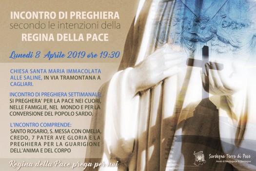 Locandina Incontro di Preghiera Settimanale del 8 Aprile 2019