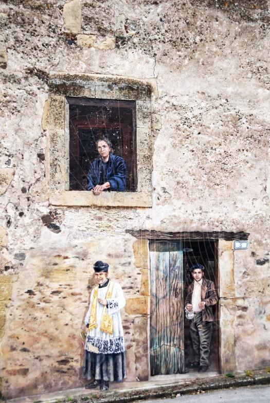 Pozzomaggiore, murale raffigurante Edvige Carboni - Foto di Sardegna Terra di pace – Tutti i diritti riservati
