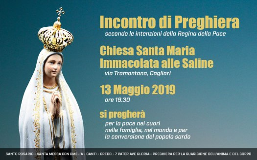 Incontro Preghiera Amici Medjugorje Sardegna 13 Maggio 2019