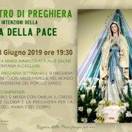 Locandina Incontro di Preghiera Settimanale del 3 Giugno 2019