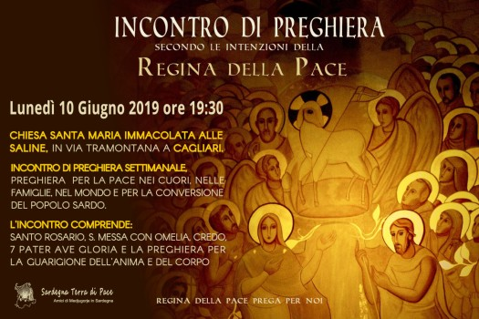 Locandina Incontro di Preghiera Settimanale del 10 Giugno 2019