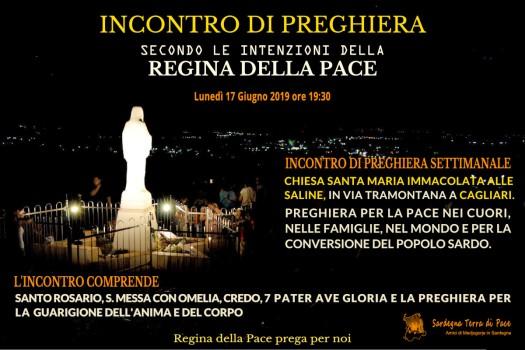 Locandina Incontro di Preghiera Settimanale del 17 Giugno 2019