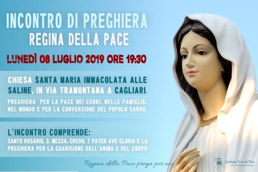 Locandina Incontro di Preghiera Settimanale del 8 Luglio 2019