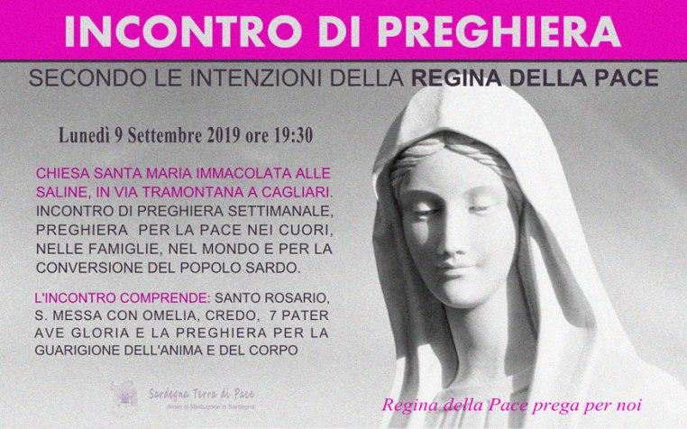 Incontro Preghiera Amici Medjugorje Sardegna 9 Settembre 2019