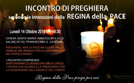 Locandina Incontro di Preghiera Settimanale del 14 Ottobre 2019