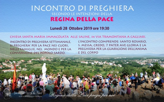 Locandina Incontro di Preghiera Settimanale del 28 Ottobre 2019