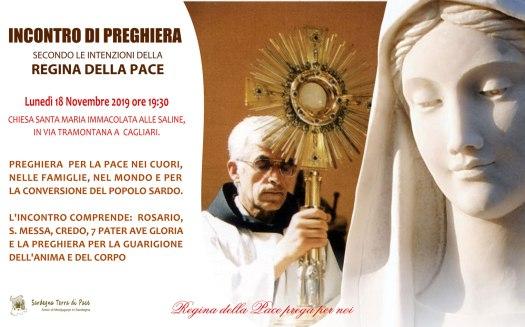 Locandina Incontro di Preghiera Settimanale del 18 Novembre 2019