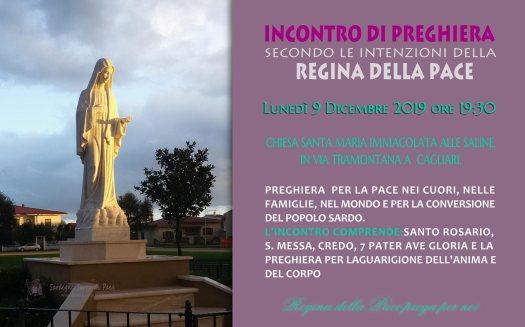 Locandina Incontro di Preghiera Settimanale del 9 Dicembre 2019