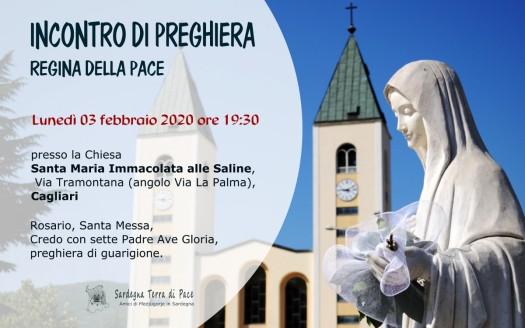 Locandina Incontro di Preghiera Settimanale del 03 Febbraio 2020