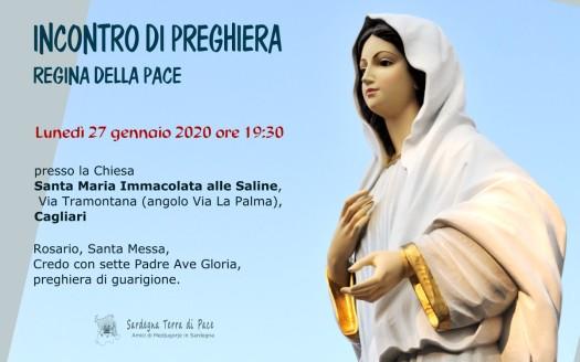 Locandina Incontro di Preghiera Settimanale del 27 Gennaio 2020