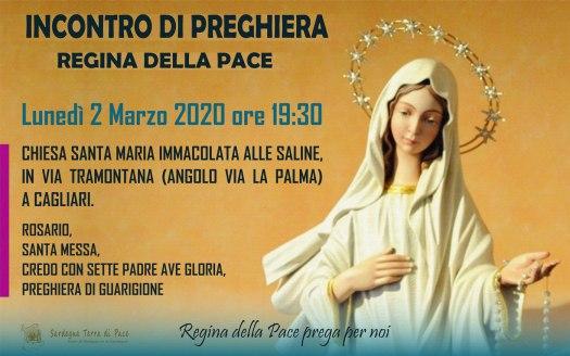 Incontro Preghiera Amici Medjugorje Sardegna 2 Marzo 2020