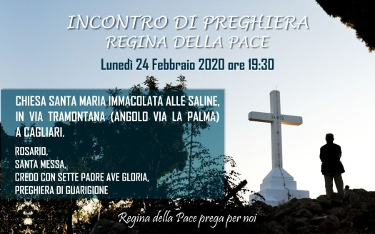 Incontro Preghiera Amici Medjugorje Sardegna 24 Febbraio 2020