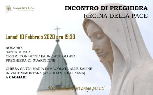 Locandina Incontro di Preghiera Settimanale del 10 Febbraio 2020