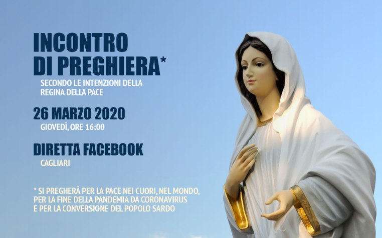Incontro Preghiera Amici Medjugorje Sardegna 26 Marzo 2020