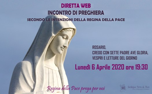 Incontro Preghiera Amici Medjugorje Sardegna 6 Aprile 2020
