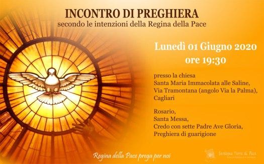 Incontro Preghiera Amici Medjugorje Sardegna 1 Giugno 2020