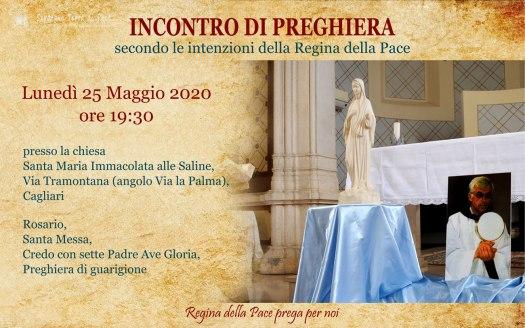 Incontro Preghiera Amici Medjugorje Sardegna 25 Maggio 2020