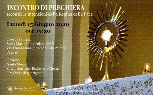 Incontro Preghiera Amici Medjugorje Sardegna 15 Giugno 2020