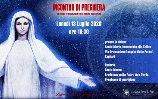 Incontro Preghiera Amici Medjugorje Sardegna 13 Luglio 2020