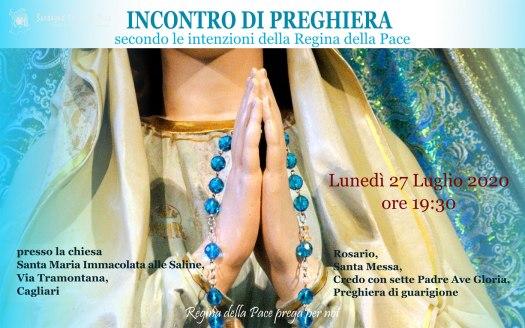 Incontro Preghiera Amici Medjugorje Sardegna 27 Luglio 2020