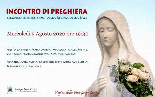 Incontro Preghiera Amici Medjugorje Sardegna 5 Agosto 2020