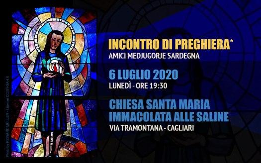 Incontro Preghiera Amici Medjugorje Sardegna 6 Luglio 2020