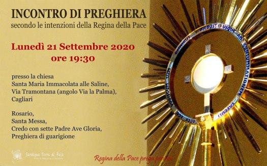 Incontro Preghiera Amici Medjugorje Sardegna 21 Settembre 2020