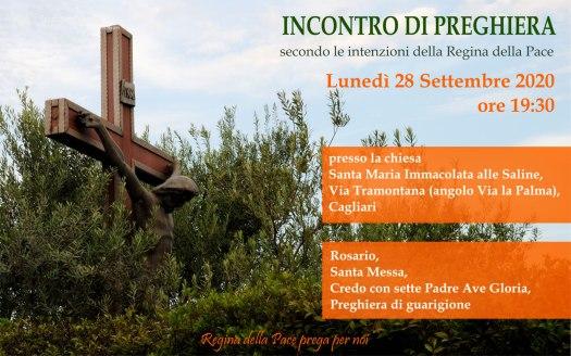 Incontro Preghiera Amici Medjugorje Sardegna 28 Settembre 2020
