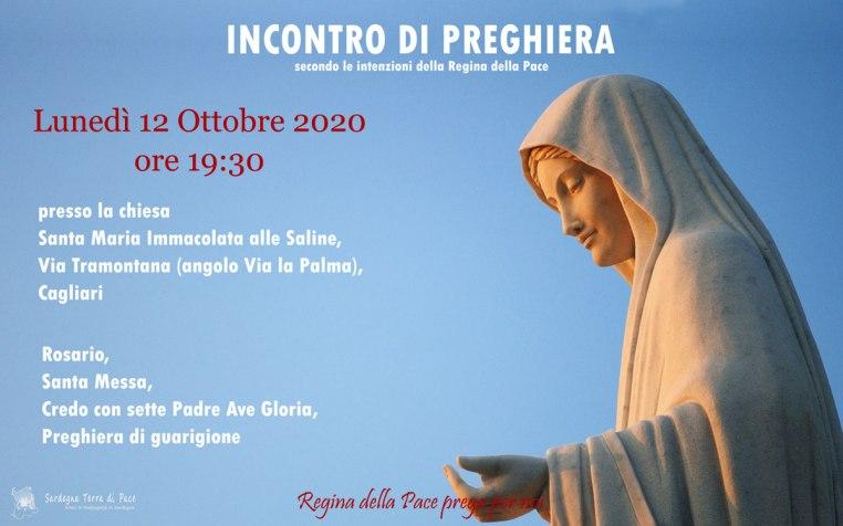 Incontro Preghiera Amici Medjugorje Sardegna 12 Ottobre 2020