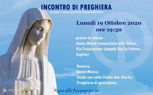 Incontro Preghiera Amici Medjugorje Sardegna 19 Ottobre 2020