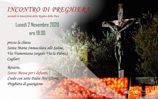 Incontro Preghiera Amici Medjugorje Sardegna 2 Novembre 2020
