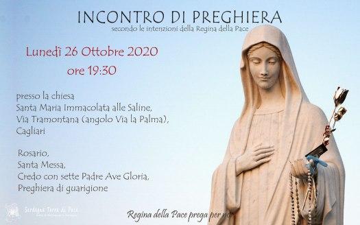 Incontro Preghiera Amici Medjugorje Sardegna 26 Ottobre 2020