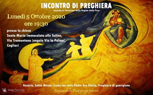 Incontro Preghiera Amici Medjugorje Sardegna 5 Ottobre 2020
