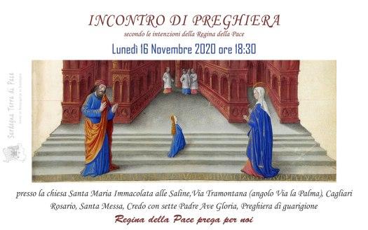 Incontro Preghiera Amici Medjugorje Sardegna 16 Novembre 2020