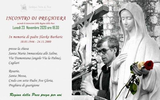 Incontro Preghiera Amici Medjugorje Sardegna 23 Novembre 2020