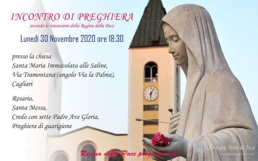 Incontro Preghiera Amici Medjugorje Sardegna 30 Novembre 2020