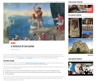 Area contenuto con articolo e widget attinenti