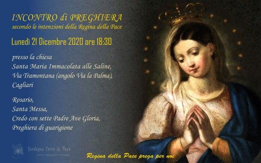 Incontro Preghiera Amici Medjugorje Sardegna 21 Dicembre 2020