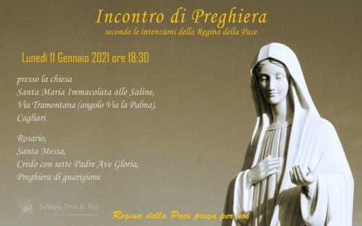 Incontro Preghiera Amici Medjugorje Sardegna 11 Gennaio 2021