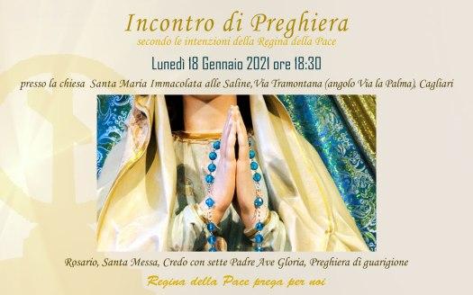 Incontro Preghiera Amici Medjugorje Sardegna 18 Gennaio 2021