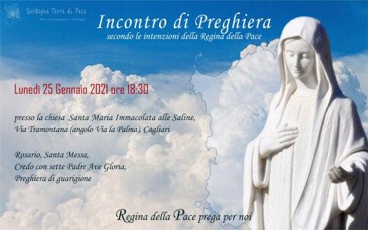 Incontro Preghiera Amici Medjugorje Sardegna 25 Gennaio 2021