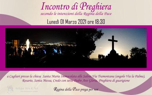 Incontro Preghiera Amici Medjugorje Sardegna 1 Marzo 2021
