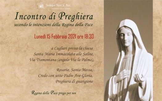 Incontro Preghiera Amici Medjugorje Sardegna 15 Febbraio 2021