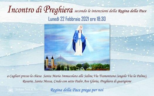 Incontro Preghiera Amici Medjugorje Sardegna 22 Febbraio 2021