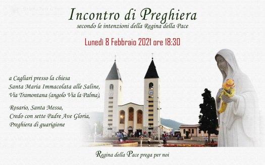 Incontro Preghiera Amici Medjugorje Sardegna 8 Febbraio 2021