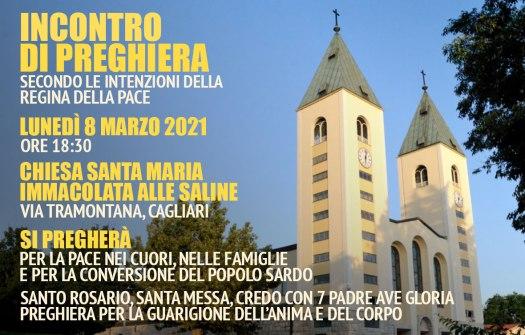 Incontro Preghiera Amici Medjugorje Sardegna 8 Marzo 2021