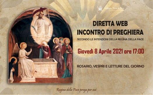 Incontro Preghiera Amici Medjugorje Sardegna 8 Aprile 2021