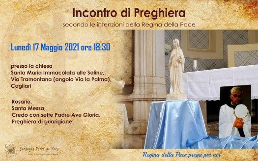 Incontro Preghiera Amici Medjugorje Sardegna 17 Maggio 2021