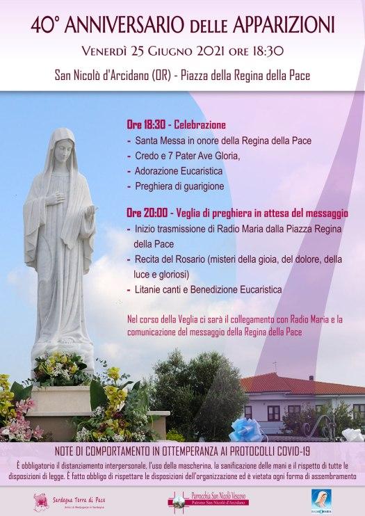 Locandina 40° Anniversario Apparizioni