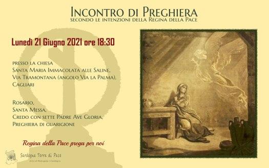 Incontro Preghiera Amici Medjugorje Sardegna 21 Giugno 2021